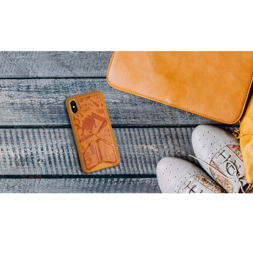 Amobii cover iphone-x & xs new york arancione cs-a10ny11-or magnetica/stand