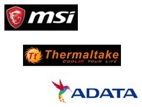 MSI & THERMALTAKE & ADATA