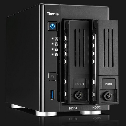 THECUS NAS PMI - TOWER 2BAY con 4k Playback N3150 Q CORE | Abaco