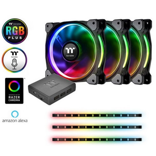 THERMALTAKE VENTOLA CASE RIING 12 RGB KIT 3*FAN + 3*LUMI